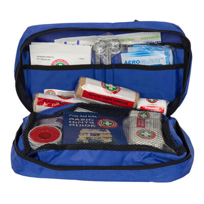 Blue Emergency Essential First Aid Kit Treatment Travel Compact Medical Survival