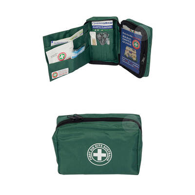 Green 22P Essential First Aid Kit Treatment Medical Injury Travel/Camping/Hiking