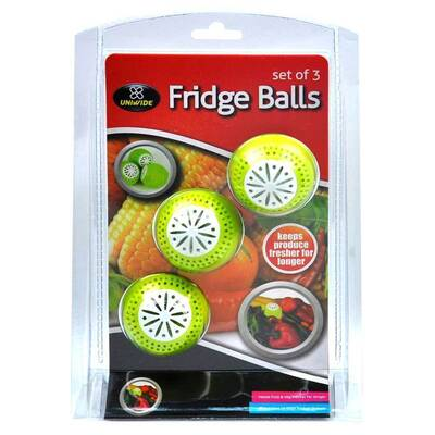 3pk Fridge Balls Natural Refrigerator Absorber Odour Removal
