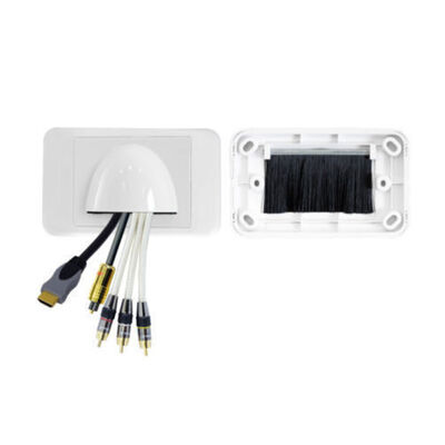 White Low Profile Front Bullnose Wall Plate Cover In Wall Wires Bull Nose