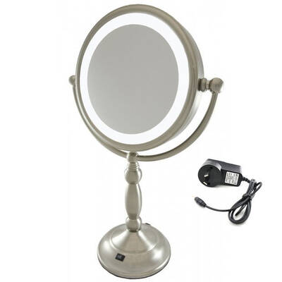 Homedics Illuminated 7X Magnification Mirror/Led Light/ Ac Adaptor Or Batteries