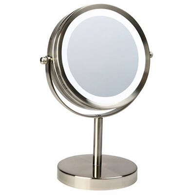 Homedics LED Light Lamp Beauty Battery Mirror 7x Magnified Makeup/Grooming/Hair