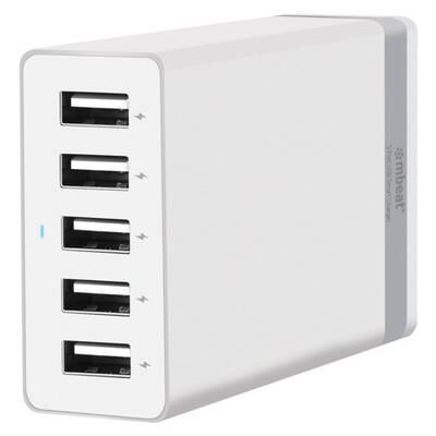 Quintary 5 Port 40W USB Smart Charger