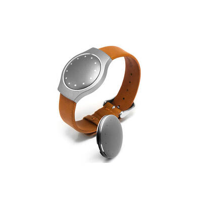 Misfit Replacement/Spare Tan Leather Wristband For Shine Watch/Fitness Monitor