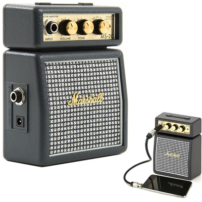 Marshall MS2C Classic Portable Micro Amplifier Amp Speaker for Guitar Instrument