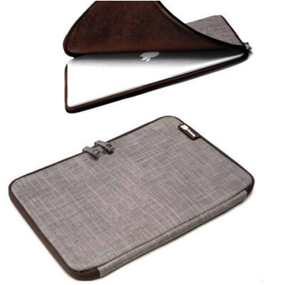 "Mamba Jute Sand Sleeve Folio Case 11"" For Macbook Pro/Air Laptop"