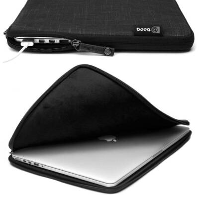 "Booq Msl15-Blk Mamba Sleeve 15"" Fits 15-Inch Macbook Pro / Laptop - Jute Black"