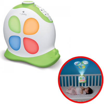 Homedics Baby Cot Projector/Soundspa Sleepy Sounds Musical Lullaby Heartbeat