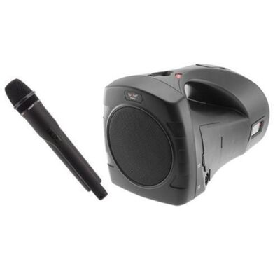 Pm55Uhf Portable Rechargeable Sound System Microphone/Speaker Wireless/Wired