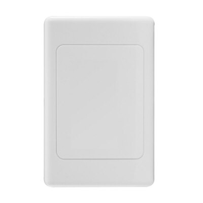 White Wall Plate Wallplate Blank Plate Blankplate Outlet Cover For Light Switch/Powerpoint Old Cuts & Holes