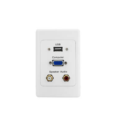 Vga / Usb / Stereo Audio - Wall Plate