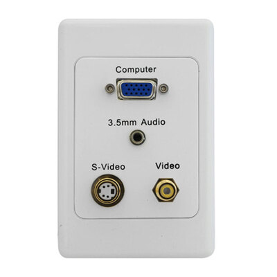 Vga / S-Video / Composite Video / 3.5Mm Audio - Clipsal Wall Plate