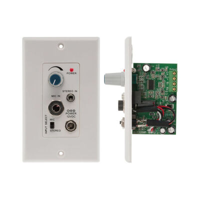 Pro2 Pro1328Wp Audio Power Pa Amplifier Wall Plate 3.5Mm Line/ Microphone Input