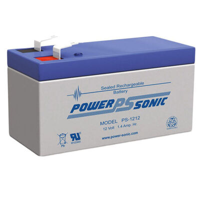 Power Sonic PS1212 12V 1.4Amp SLA Rechargeable Battery F1 Terminal Sealed Lead Acid