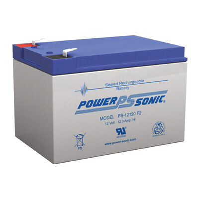 Power Sonic Ps12120 12V 12Amp Sla Rechargeable Battery F2 Terminal Sealed Lead A
