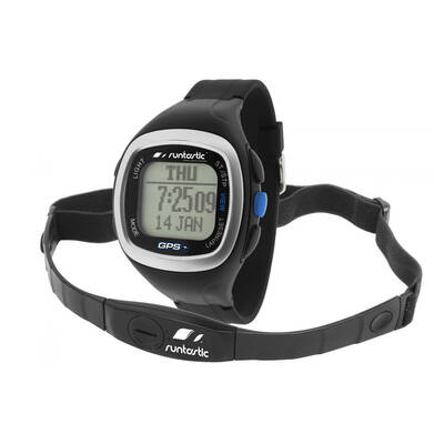 Runtastic Gps Watch With Heart Rate Monitor + Chest Strap Rechargeable Battery
