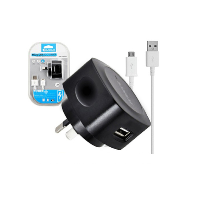 Black Wall Charger Charge/Micro Usb Charging Cable For Samsung Galaxy/HTC