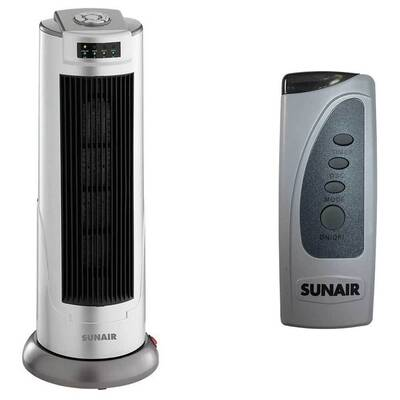 Sunair 2000W Ceramic Tower Heater Oscillating Base