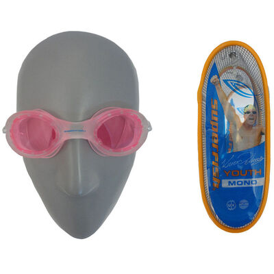 Superfish Kieren Perkins Mono Youth Goggles For Swim/Swimming Pool/Beach W/Case