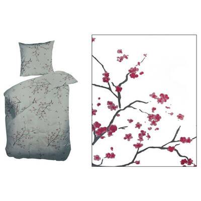Double Flower/Cherry Blossom Quilt Cover Set Zip C