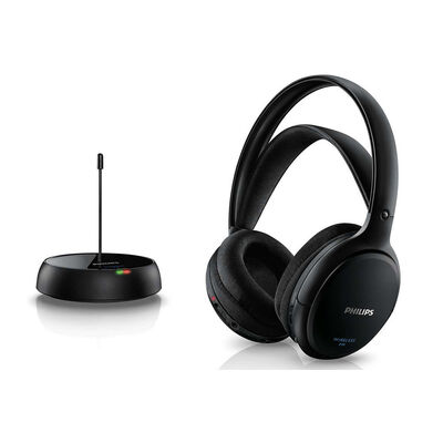Philips Shc5200 Wireless Fm Headphones Rechargeable Battery For Tv/Radio/Mp3/Dvd