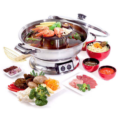 Maxim Tsb120 Steamboat 2000W Teppanyaki Hot Pot Hotpot /Asian/Soup/Maker/Fondue