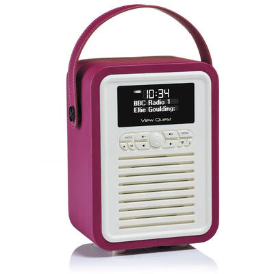 Purple View Quest Retro Mini DAB+ Digital Radio/AUX/Bluetooth Portable Speaker
