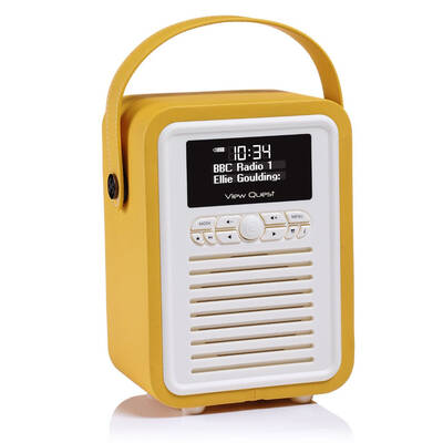 Yellow View Quest Retro Mini DAB+ Digital Radio/AUX/Bluetooth Portable Speaker