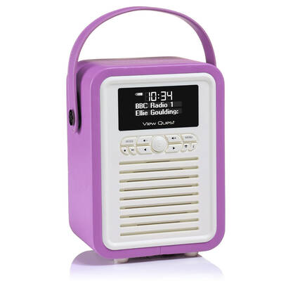 Orchid View Quest Retro Mini DAB+ Digital Radio/AUX/Bluetooth Portable Speaker