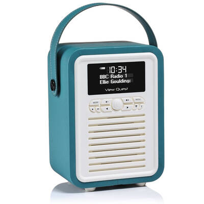 Teal View Quest Retro Mini DAB Digital Radio/USB/AUX/Bluetooth Portable Speaker