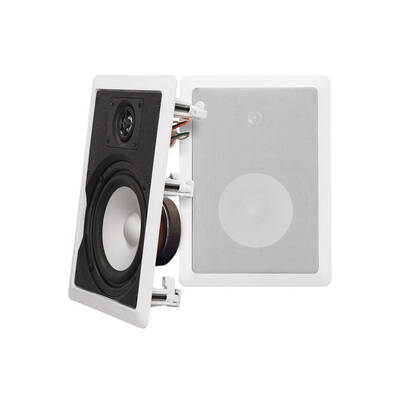 "Wintal Ws602 White 6.5"" In Wall Ceiling Speakers Pair 80W/Paintable Metal Grille"