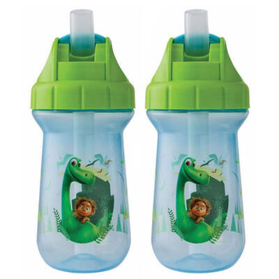 Disney The Good Dinosaur Flip Top Straw Cup 2 Pack