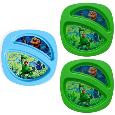 Disney The Good Dinosaur Toddler Sectioned Plate 3 Pack