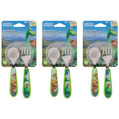 Disney The Good Dinosaur Kids Fork and Spoon Set 3 Pack
