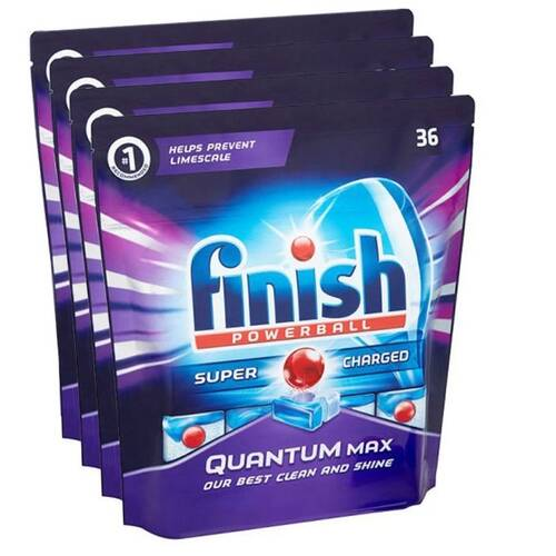 144 Tabs Finish Powerball Quantum Max Dishwasher Tablets