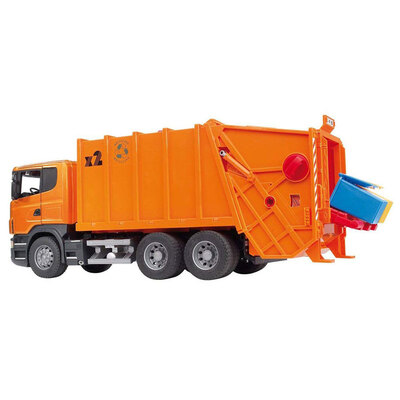 Bruder 1:16 Scania R-Series Garbage Truck Orange