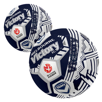 2x Summit Size 5 A-League Melbourne Victory Soccerball