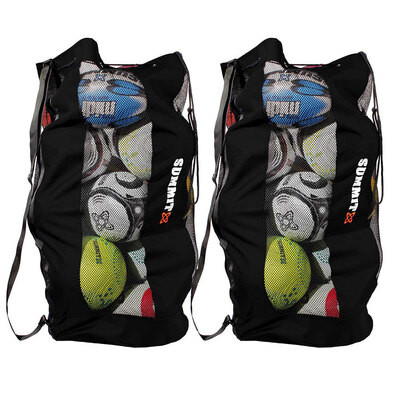 2x Summit Durable Mesh Ball Bag for Soccer/Football/Rugby/Sport