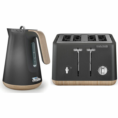 Morphy Richards Scandi Titanium 4 Slice Toaster w/ Cordless Kettle