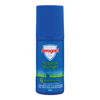Aerogard 50ml Tropical Strength Insect Repellent Roll-On