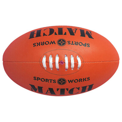 Sports Works Genuine Australian Rules Football - Red