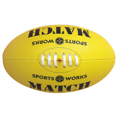 Sports Works Genuine Australian Rules Football - Yellow