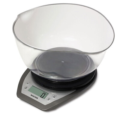Dual Pour Kitchen Scale with Bowl