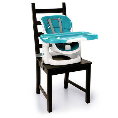 Ingenuity SmartClean ChairMate High/Reclining/Booster Chair/Seat Peacock Blue