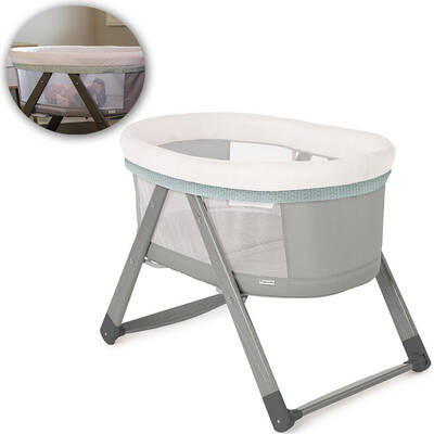 Ingenuity Portable Foldable Wood Baby Bassinet - Wallace