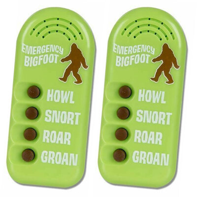 2PK Archie McPhee Emergency Bigfoot Button