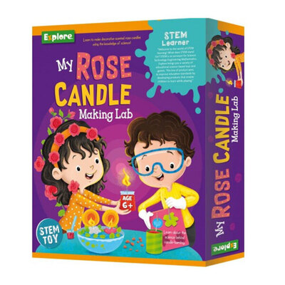 Explore Stem Medium Toy My Rose Candle Making Lab 6y+