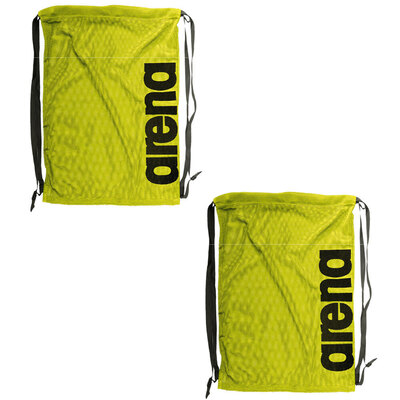 2PK Arena Fast Mesh Backpack for Swimming Suits & Sports Training - Fluro Yellow