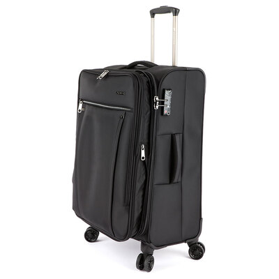 Paklite Bureau Medium Spin Suitcase - Black