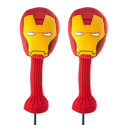 2x Marvel Iron Man 460cc Golf Club Cover